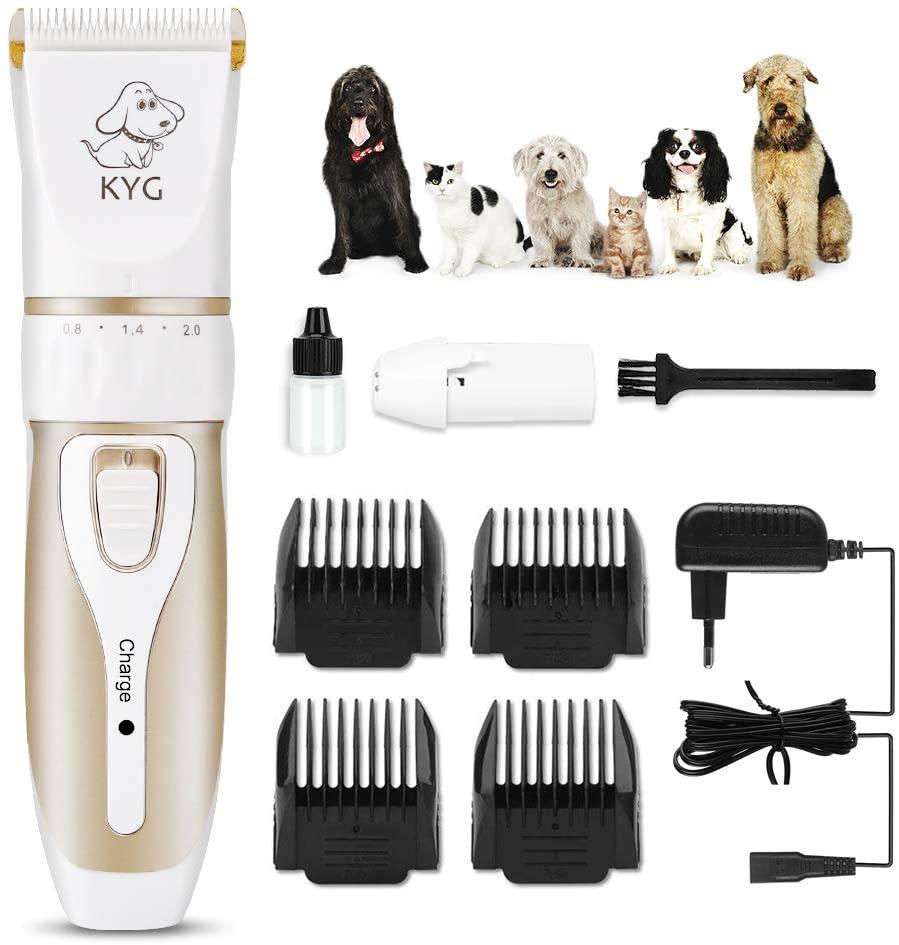 #3 KYG máquina de cortar pelo para mascotas de bajo ruido y carga rápida